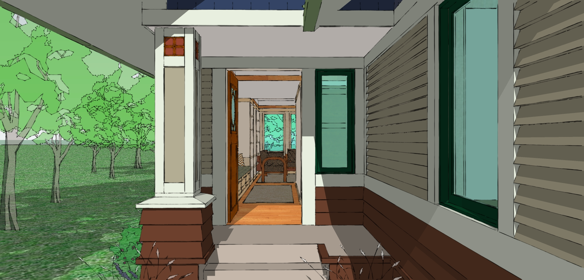 The Not So Big Bungalow Entryway