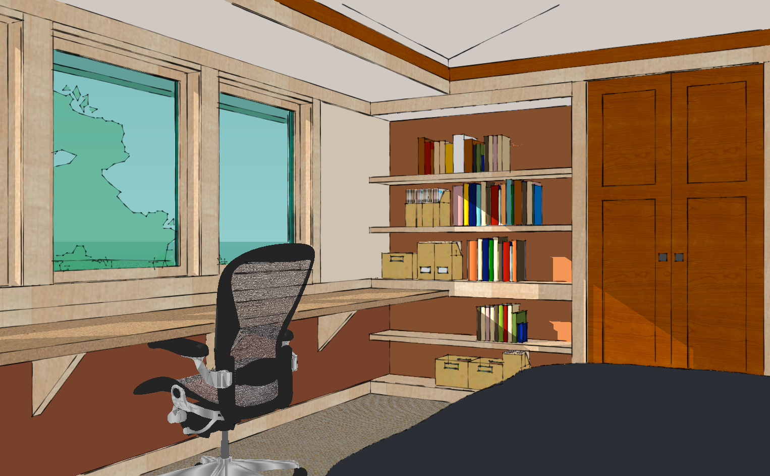 Upstairs home office